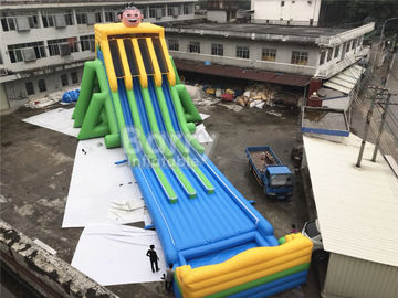 Commercial Grade 4 Lanes Wet Giant Inflatable Water Slide For Big Event