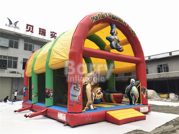 Holiday Beach Teenager Inflatable Playground And Amusement Park , Backyard Toddler Combo
