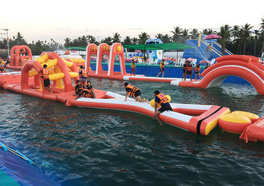 Floating Inflatable Obstacle Course , Inflatable Water Obstacle Course Rental
