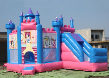 Outdoor Large Inflatable Combo Princess Jumping Castle With Slide Rental