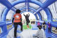 0.55mm PVC Tarpaulin Inflatable 5k Run / Insane 5k Inflatable Jungle Obstacle Course For Adults