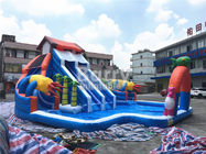 House Shaped Slide Portable Inflatable Water Park Aquapark For Outdoor Ground