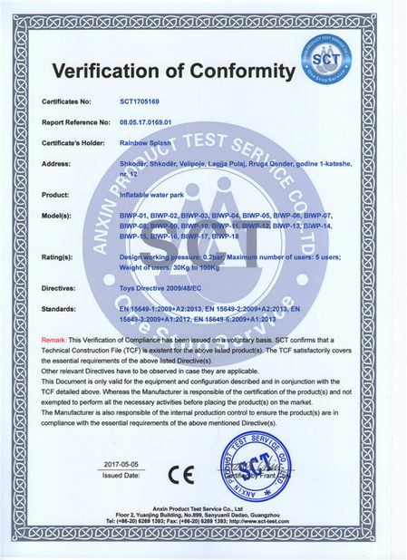 China Guangzhou Barry Industrial Co., Ltd certification