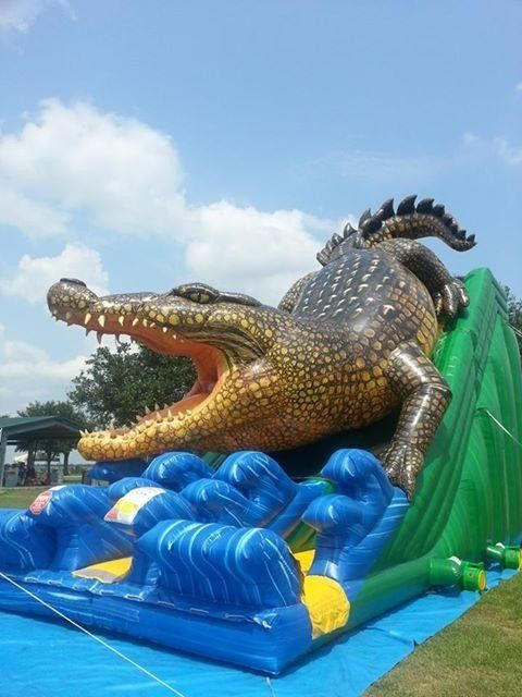 Alligator Waterproof Comercial Outdoor Wet Kids Inflatable