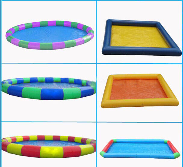 Outdoor Children Inflatable Swimming Pool Large Rectangle Blow Up Swimming Pools