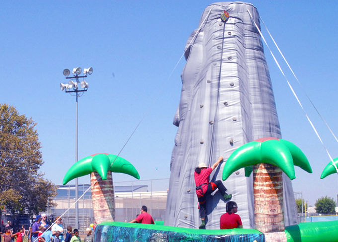 Tiki Island Themed Large 28ft Inflatable Climbing Wall Party Games