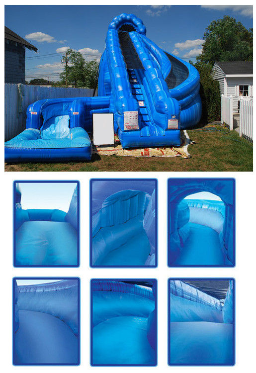 Giant Inflatable Corkscrew Water Slide Double Inflatable