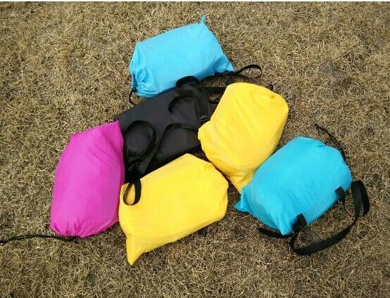 Outdoor Inflatable Toys 225*85cm Fast Beach Sleeping Bag Lazy Lounge Bed 14 Colors