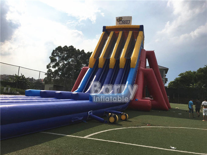 EN14960 0.5mm PVC Giant Inflatable Slide 0.55mm / 18 Oz PVC Tarpaulin Durable