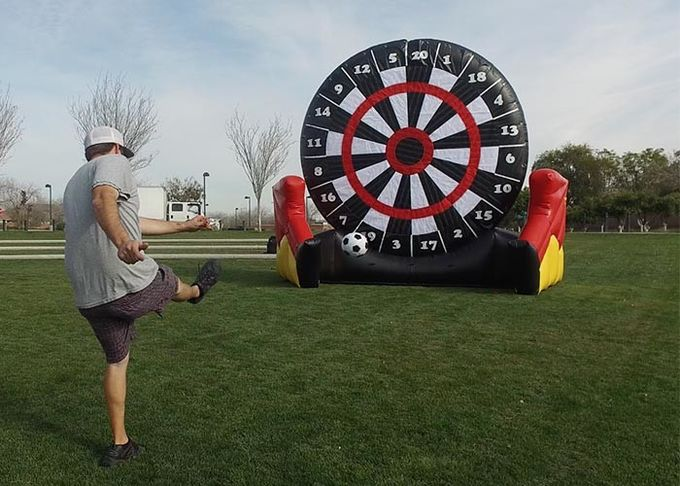 Kids And Adults Giant Inflatable Golf Dart Boards With  Balls For Parks , Squares , Gardens