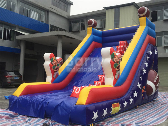 Customized Single Lane Rugby Commercial Inflatable Slide For Playground