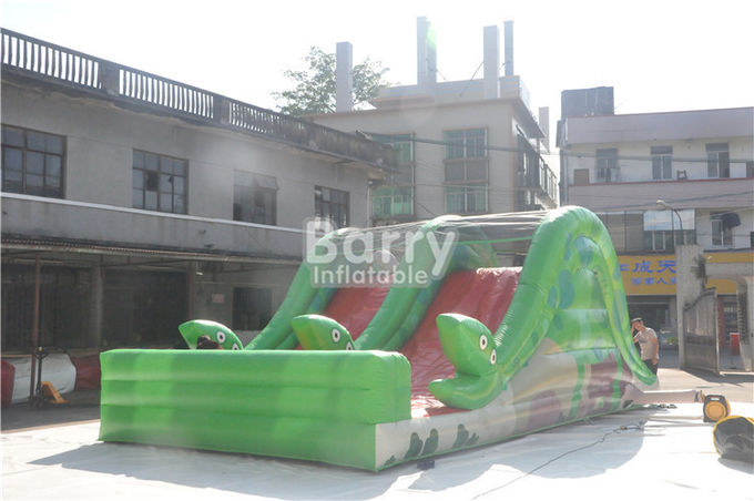 Promotion Children Toy Inflatable Snake Slide With Stair Behind