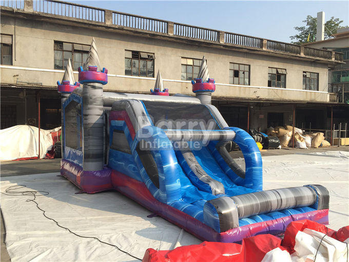 0.55mm PVC Tarpaulin Inflatable Bounce House Slide Combo For Kids