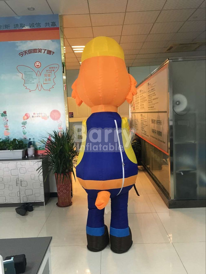 Fireproof Inflatable Advertising Products Cartoon Sumo Wrestling Suits With Foam