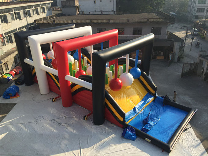 OEM Giant Inflatable Obstacle Course , Wrecking Ball Game For Event