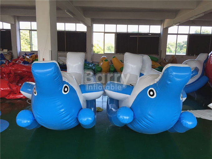 Summer Inflatable Water Toys For Lake , Small Blow Up Dolphin