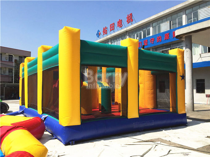Fire - resistant Big Inflatable Bounce House With Slide Combo SCT EN71