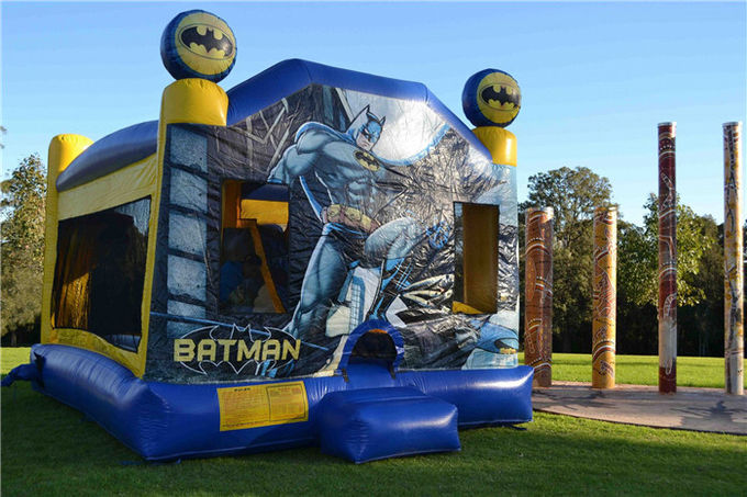 Tarpaulin Sewing Batman C4 Combo Inflatable Jumping Castle For Backyard Commercial