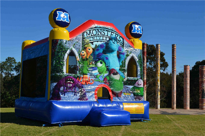 Multifunctional Inflatable Bouncer House , Large Commercial Monsters University Adult Jumping Castle