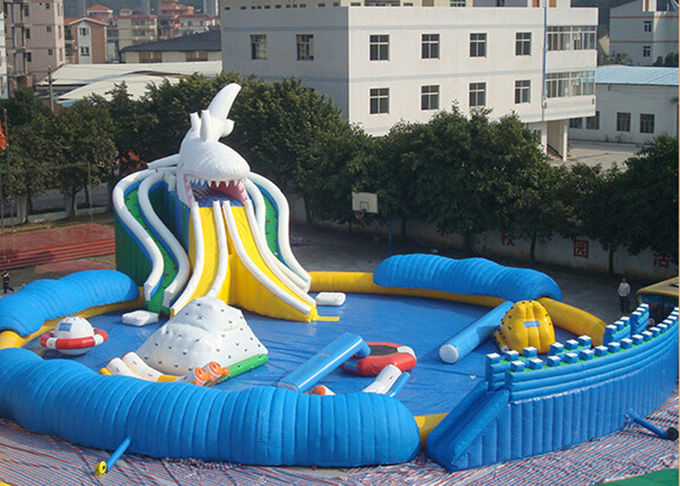 Commercial Giant Shark Blow Up Kid Pool With Fun