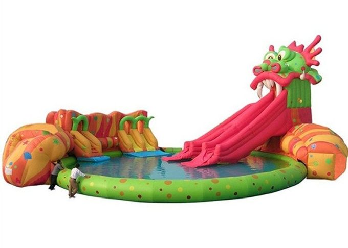 Funny Kids Inflatable Water Park , Inflatable Floating Water Park Playground