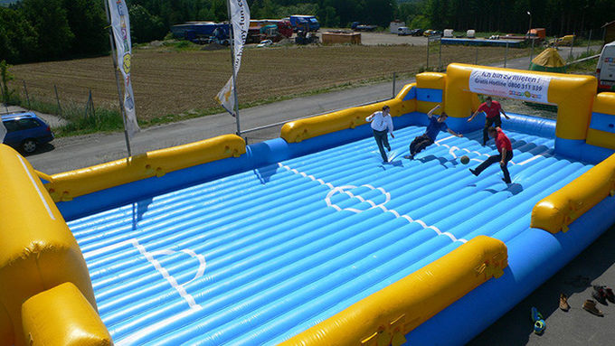Funny Inflatable Soccer Field , Inflatable Water Soccer Field for Adult