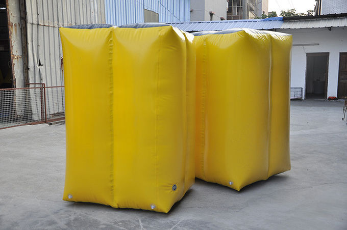 Yellow Inflatable Sports Games Paintball Bunker , PVC Tarpaulin Inflatable Airsoft Bunker
