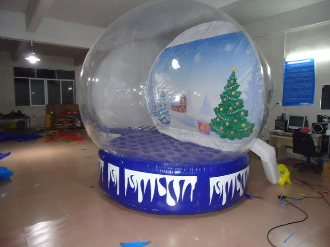Transparent Inflatable Advertising Products Christmas Snow Globe