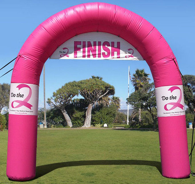 Standard Tethered Inflatable Arch , Airtight PVC Inflatable Finish Line Arch for Outdoor