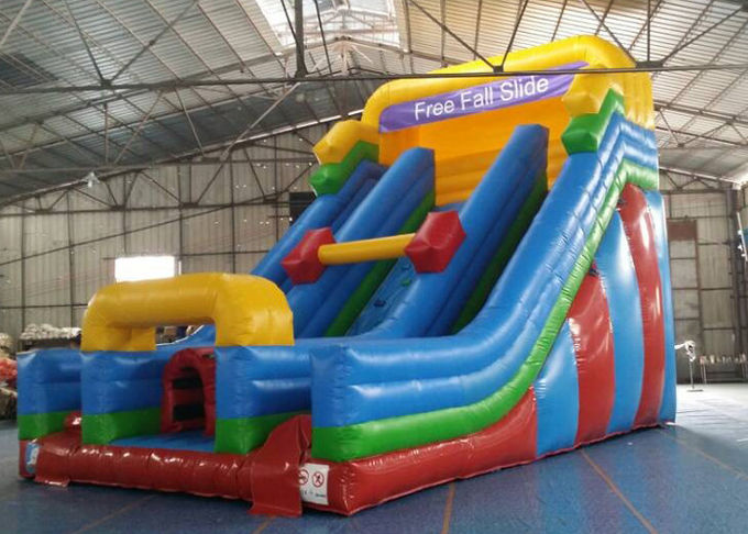 Rock Climbing Inflatable Slide ,  Double Slide Way Dry Slide in Stock