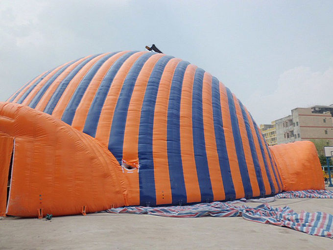High Temperature Resistance Dome Inflatable Tent / Inflatable Sport Tent For Commercial